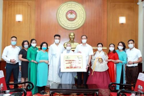 Phật giáo Việt Nam tại Hàn Quốc ủng hộ Quỹ vaccine phòng chống Covid-19 - ảnh 2