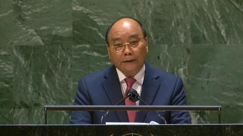 Chủ tịch nước phát biểu tại Đại hội đồng LHQ: Hợp tác để sớm chiến thắng COVID-19 - ảnh 1