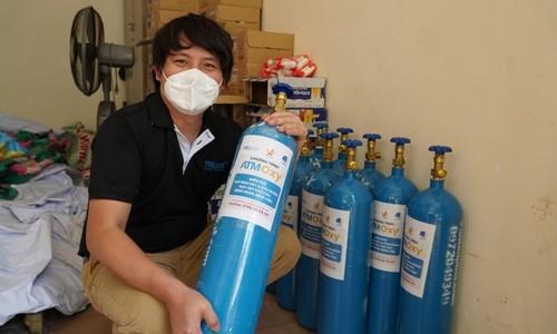 Businessman develops oxygen ATMs to help HCMC Covid patients - ảnh 1