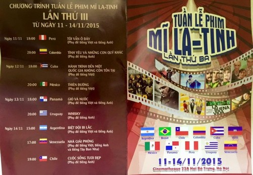 Tuần lễ phim Mỹ Latinh tại Hà nội - ảnh 1