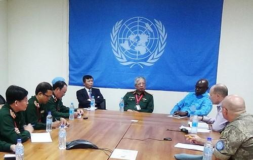 Đoàn Tổ công tác liên ngành làm việc với các cơ quan của Phái bộ UNMISS tại Nam Sudan - ảnh 1