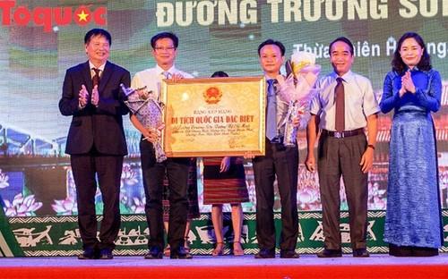 Đón nhận bằng xếp hạng Di tích Quốc gia đặc biệt Đường Trường Sơn-Đường Hồ Chí Minh - ảnh 1