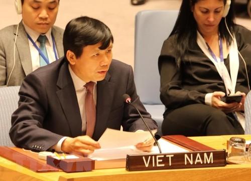 """Việt Nam đại diện cho ASEAN cam kết đóng góp vào nỗ lực chung """"Bảo vệ dân thường trong xung đột vũ trang""""  - ảnh 1"""