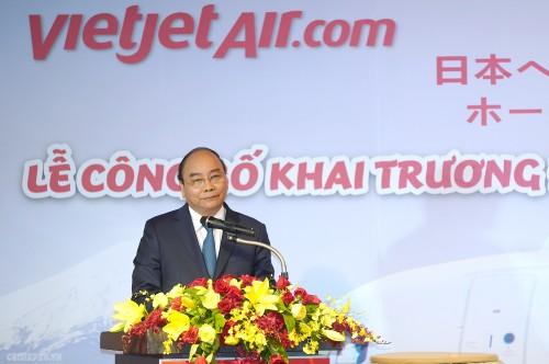 Thủ tướng dự lễ công bố hai đường bay mới tới Nhật Bản - ảnh 1