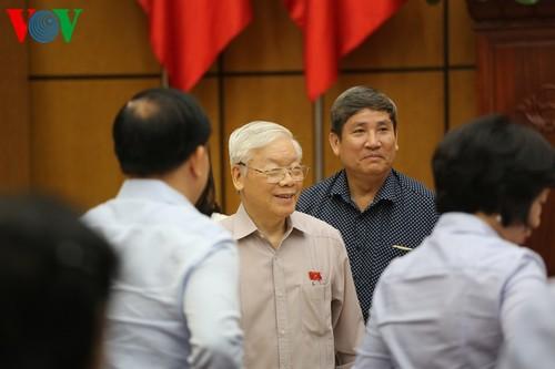 Tổng Bí thư, Chủ tịch nước Nguyễn Phú Trọng tiếp xúc cử tri Hà Nội - ảnh 1