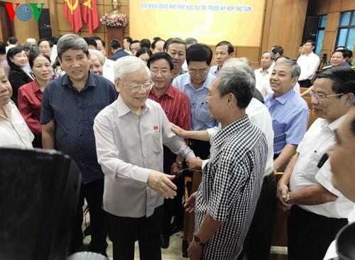 Tổng Bí thư, Chủ tịch nước Nguyễn Phú Trọng tiếp xúc cử tri Hà Nội - ảnh 2