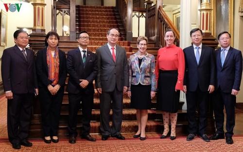 Bí thư Thành ủy Tp Hồ Chí Minh Nguyễn Thiện Nhân thăm và làm việc tại Australia    - ảnh 1