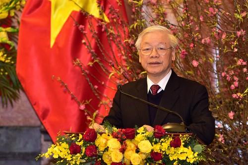 Tổng Bí thư, Chủ tịch nước chúc tết lãnh đạo, nguyên lãnh đạo Đảng, Nhà nước - ảnh 1