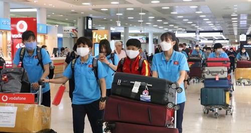 Đội tuyển bóng đá nữ Việt Nam có mặt tại Australia, sẵn sàng cho trận lượt đi play-off Olympic 2020 - ảnh 1