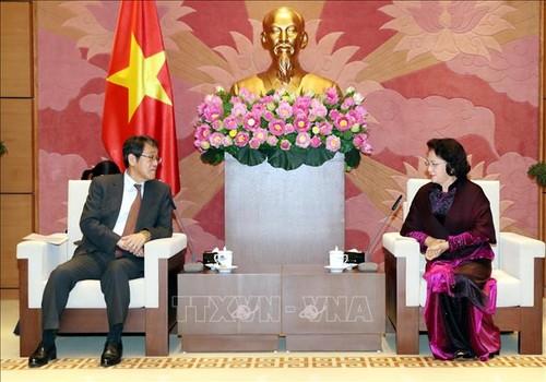 Chủ tịch Quốc hội Nguyễn Thị Kim Ngân tiếp Đại sứ Nhật Bản tại Việt Nam Umeda Kunio - ảnh 1