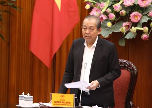 Phó Thủ tướng Thường trực Trương Hòa Bình làm việc với Ủy ban Quản lý vốn Nhà nước tại Doanh nghiệp - ảnh 1