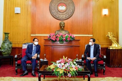 TW Mặt trận Tổ quốc Việt Nam tiếp nhận ủng hộ 5 tỷ đồng từ Đại sứ Hàn Quốc tại Việt Nam - ảnh 1