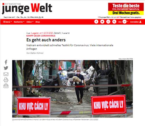 Báo Đức ca ngợi công tác kiểm soát dịch COVID-19 của Việt Nam - ảnh 1