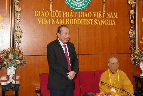 Phó Thủ tướng Thường trực Trương Hòa Bình chúc mừng Đại lễ Phật đản - ảnh 1
