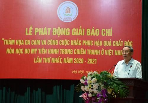 Phát động Giải báo chí viết về thảm họa da cam tại Việt Nam - ảnh 1