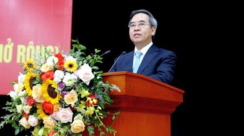 Ông Nguyễn Văn Bình dự Hội nghị sơ kết Đảng ủy Khối Doanh nghiệp Trung ương - ảnh 1