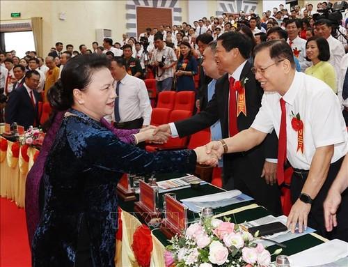 Chủ tịch Quốc hội Nguyễn Thị Kim Ngân dự Đại hội thi đua yêu nước tỉnh Thái Nguyên - ảnh 1