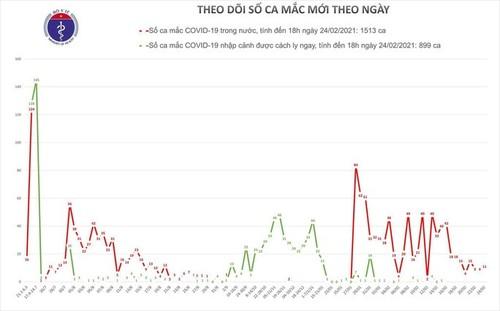 Chiều 24/2, Việt Nam có thêm 9 ca mắc COVID-19 mới ở Hải Dương - ảnh 1