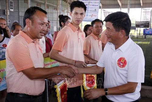 Giao lưu thể thao kỷ niệm 60 năm chuyên gia Công an Việt Nam tại Lào - ảnh 1
