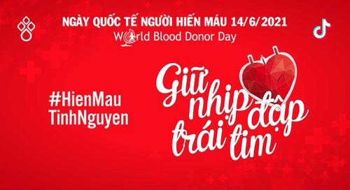 """Giữ nhịp đập trái tim"""", thông điệp đầy tính nhân văn nhân Ngày Quốc tế người hiến máu (14/6) - ảnh 1"""