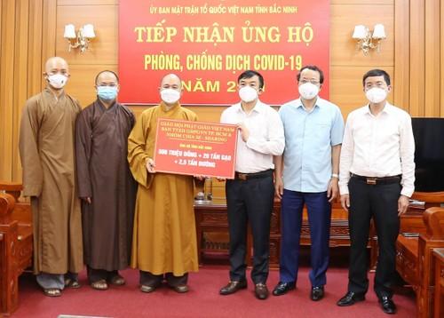 Giáo hội Phật giáo Việt Nam chung tay cùng Bắc Giang và Bắc Ninh chống dịch COVID-19 - ảnh 1