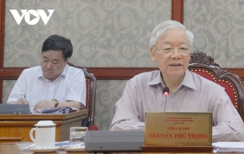 Tổng Bí thư Nguyễn Phú Trọng: Tuyệt đối không lơ là chủ quan trong công tác phòng chống dịch Covid 19 - ảnh 1