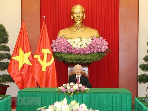 Tổng Bí thư Nguyễn Phú trọng điện đàm với Tổng thống Sri Lanka - ảnh 1
