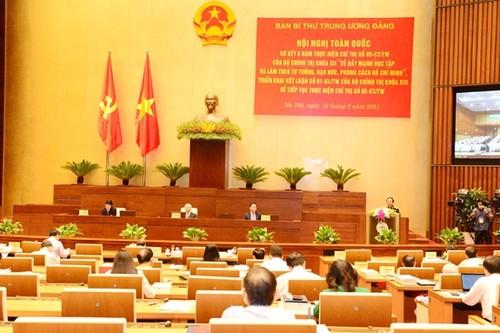 Đẩy mạnh hơn nữa việc học tập, làm theo tấm gương đạo đức Hồ Chí Minh - ảnh 1