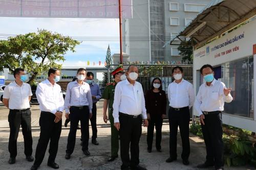 Phó Thủ tướng Trương Hòa Bình kiểm tra công tác phòng dịch covid-19 tại Bà Rịa – Vũng Tàu - ảnh 1