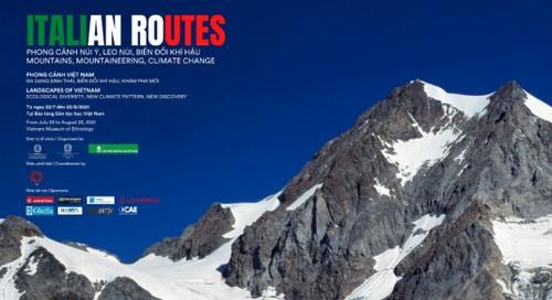 """Triển lãm ảnh """"ITALIAN ROUTES - Phong cảnh núi Italy, leo núi, biến đổi khí hậu"""" - ảnh 1"""
