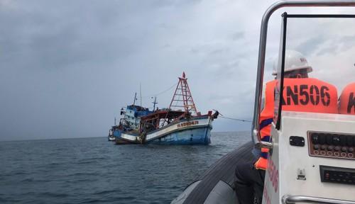 Chi đội Kiểm ngư Vùng V Hải quân tăng cường tuần tra trên vùng biển Tây Nam chống khai thác IUU - ảnh 1