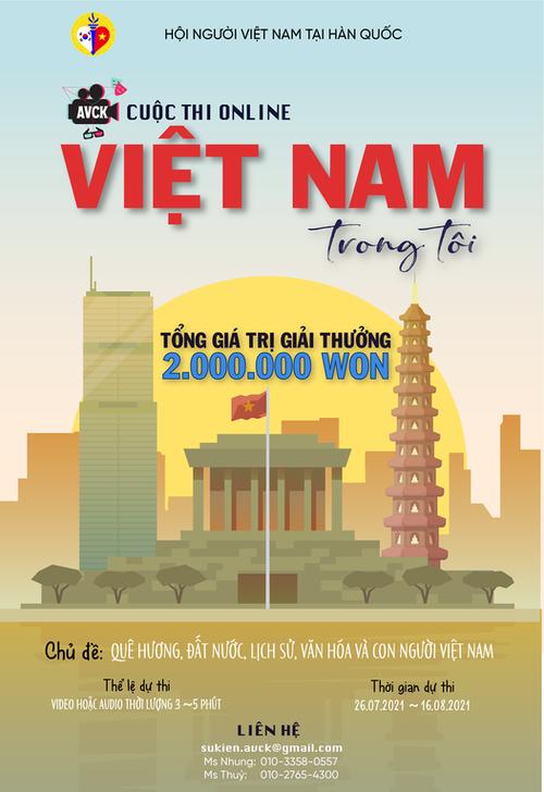 """Hội người Việt tại Hàn Quốc tổ chức cuộc thi online """"Việt Nam trong tôi"""" - ảnh 1"""