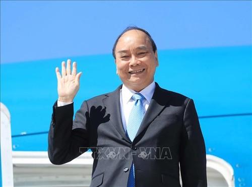 Chủ tịch nước Nguyễn Xuân Phúc rời thành phố New York (Hoa Kỳ) về nước - ảnh 1