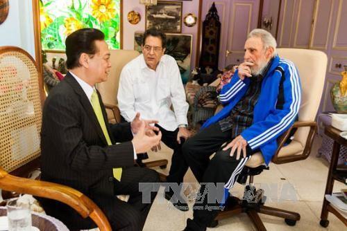Truyền thông Cuba đăng hình ảnh Thủ tướng Nguyễn Tấn Dũng gặp lãnh tụ Fidel Castro  - ảnh 1