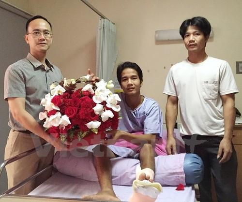 Người Việt bị thương trong vụ đánh bom ở Bangkok đã ra viện về nước - ảnh 1