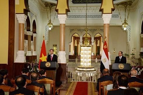 Tuyên bố chung Việt Nam - Ai Cập: Củng cố lòng tin chiến lược giữa hai nước - ảnh 1