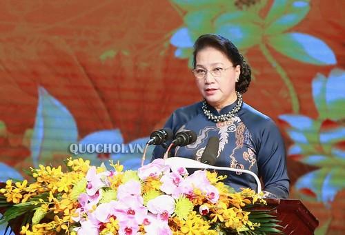 Chủ tịch Quốc hội Nguyễn Thị Kim Ngân dự Lễ kỷ niệm 130 năm Ngày sinh cụ Bùi Bằng Đoàn, nguyên Chủ tịch Quốc hội VN - ảnh 1