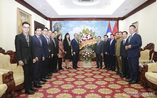 Tiếp tục hợp tác chặt chẽ, vun đắp, phát triển mối quan hệ hữu nghị Việt Nam - Lào - ảnh 1