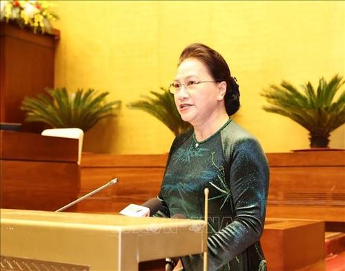 Chủ tịch Quốc hội Nguyễn Thị Kim Ngân gặp mặt đoàn đại biểu dự Đại hội thi đua yêu nước - ảnh 2