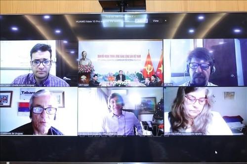 Lãnh đạo Ban Đối ngoại Trung ương Đảng hội đàm trực tuyến với lãnh đạo các chính đảng Uruguay - ảnh 2