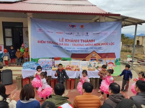 Đài Tiếng nói Việt Nam và các đơn vị tài trợ khánh thành điểm trường Nà Ma, huyện Ba Bể (Bắc Kạn) - ảnh 1