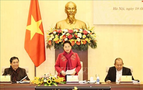 Chủ tịch Quốc hội Nguyễn Thị Kim Ngân chủ trì Phiên họp thứ hai của Hội đồng Bầu cử quốc gia - ảnh 1