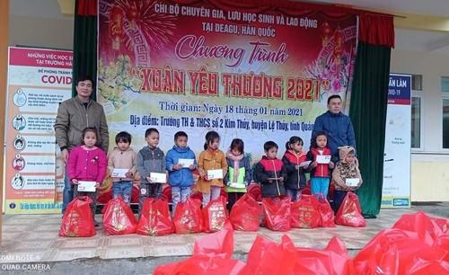Người Việt ở Daegu trao quà Tết cho học sinh có hoàn cảnh khó khăn tại Quảng Bình - ảnh 3