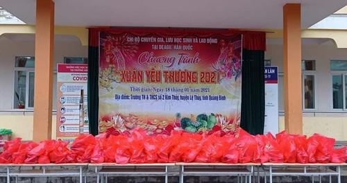 Người Việt ở Daegu trao quà Tết cho học sinh có hoàn cảnh khó khăn tại Quảng Bình - ảnh 4