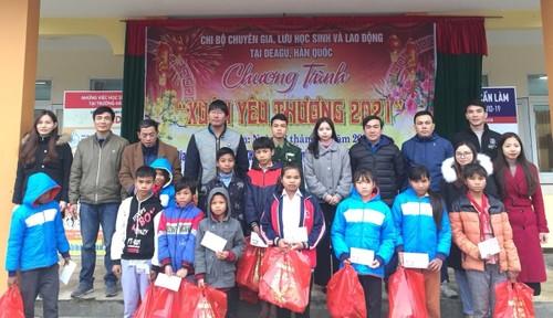 Người Việt ở Daegu trao quà Tết cho học sinh có hoàn cảnh khó khăn tại Quảng Bình - ảnh 1