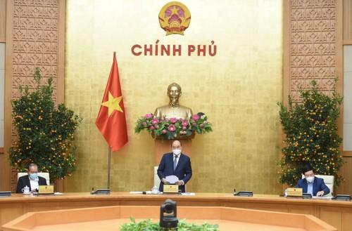 Thủ tướng họp thường trực chính phủ đầu năm mới - ảnh 1