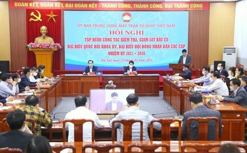 Mặt trận Tổ quốc Việt Nam tập huấn về giám sát công tác bầu cử - ảnh 1