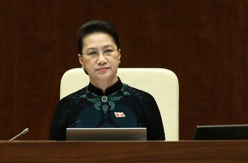 Quốc hội phê chuẩn việc miễn nhiệm Chủ tịch Quốc hội khóa XIV, Chủ tịch Hội đồng bầu cử quốc gia - ảnh 1