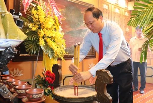 Dâng hương tưởng niệm nhân 41 năm ngày mất của Chủ tịch Tôn Đức Thắng - ảnh 1