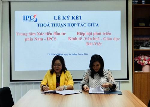 Hiệp hội Đài - Việt ký kết thoả thuận hợp tác với Trung tâm xúc tiến đầu tư phía nam IPCS - ảnh 1